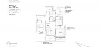 Bartley-Vue-Floor Plan-2-bedroom-type-2a