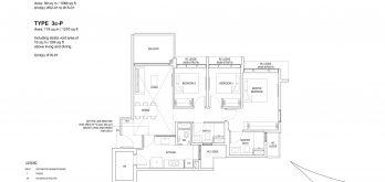 Bartley-Vue-Floor Plan-3-bedroom-premium-type-3c